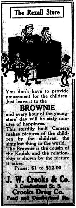 Ad for Brownie Camera for Children
